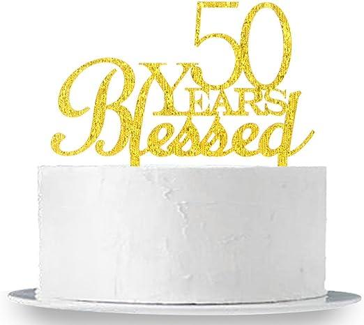 Amazon.com: 50 Años Cumpleaños Decoración para Tarta para ...