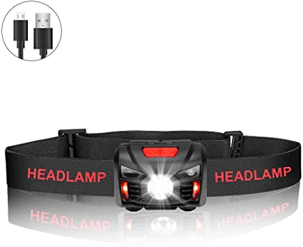 Campen Stirnlampe LED Angeln Headlamp Leichtgewichts Perfekt f/ür Laufen f/ür Kinder und mehr Wasserdicht Led COB Stirnlampen Superhelle USB Wiederaufladbare Kopflampe Joggen