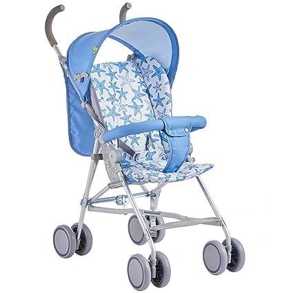 XYQ Carrito de bebé-Baby Trolley Azul/Rosa Plegable Four Seasons Marco de aleación