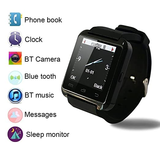 Colofan Smartwatch luxe U8 Bluetooth montre Smart Watch Wristwatch tšŠlšŠphone avec šŠcran tactile Appareil photo pour IOS Iphone Android Smartphone Samsung ...