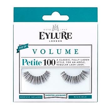 2b1d5b617ad Amazon.com : Eylure Volume False Eyelashes Number 100 - Petite : Beauty