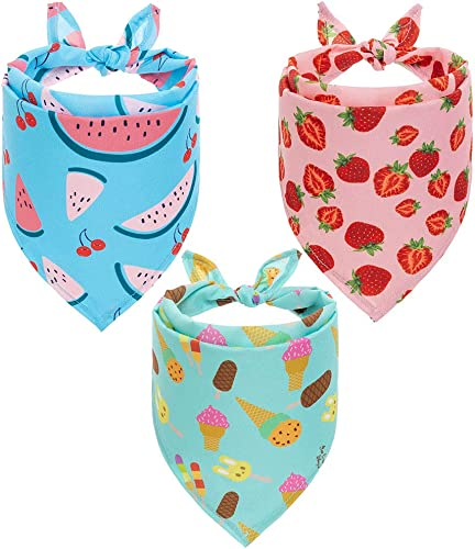 SCIROKKO Hawaii Dog Bandanas 3 Pack