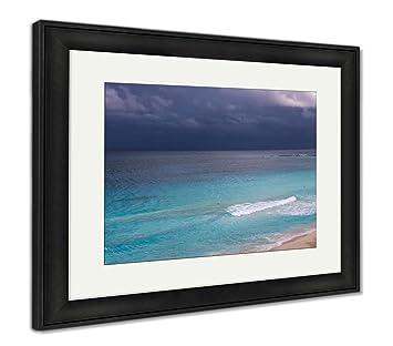 Amazon com: Ashley Framed Prints Stormy Weather Beautiful Turquoise