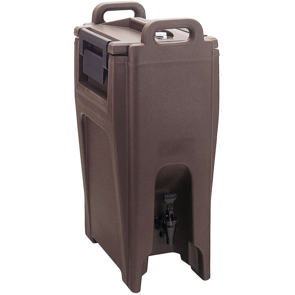 Cambro UC500131 Ultra Camtainer Beverage Carrier, Insulated Plastic, 5-1/4 Gallon, Dark Brown, NSF Case of 1