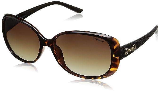 Polaroid femme P8430 La 581 58 Montures de lunettes, Noir (Black/Brown)