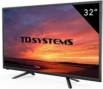 Televisores Led 32 Pulgadas HD TD Systems K32DLT7H, Resolución 1366 x 768, 3X HDMI, VGA, USB Reproductor y Grabador. (Reacondicionado Certificado): Amazon.es: Electrónica