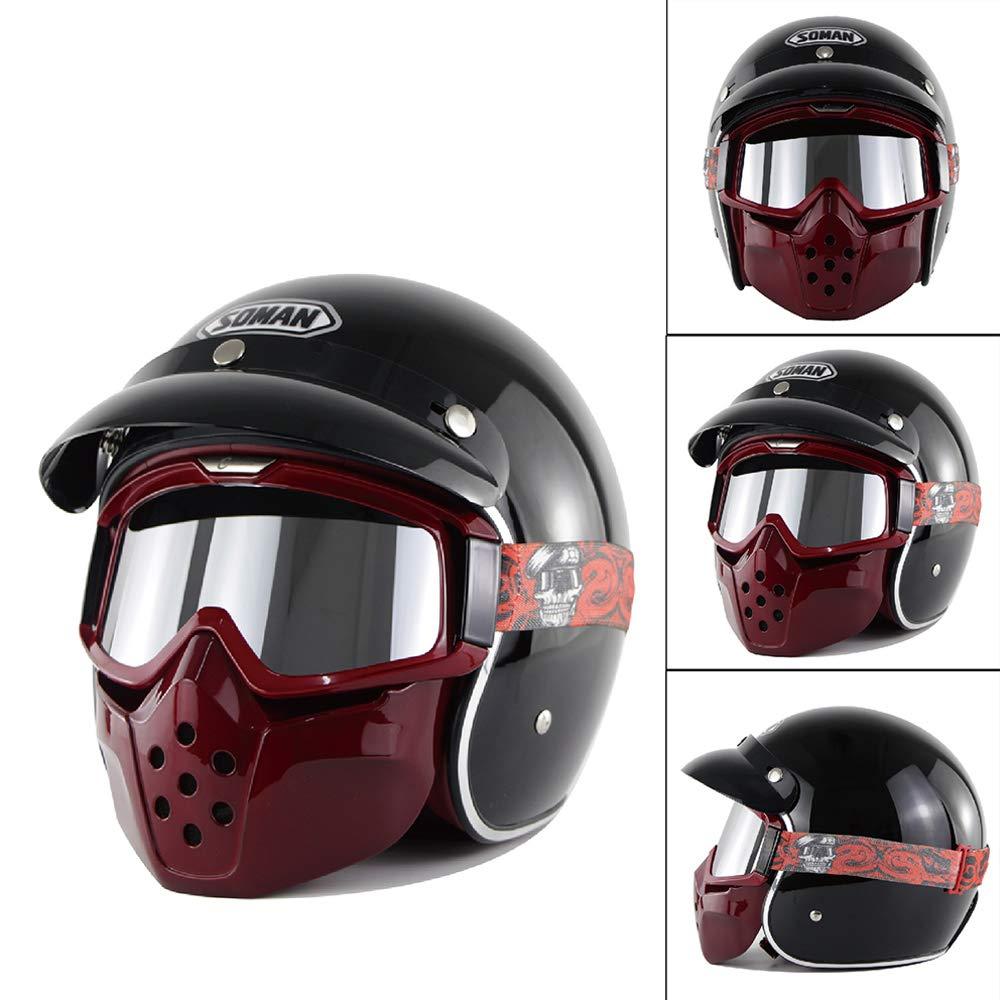 helme s m l xl xll retro harley helm 3 4 open face. Black Bedroom Furniture Sets. Home Design Ideas