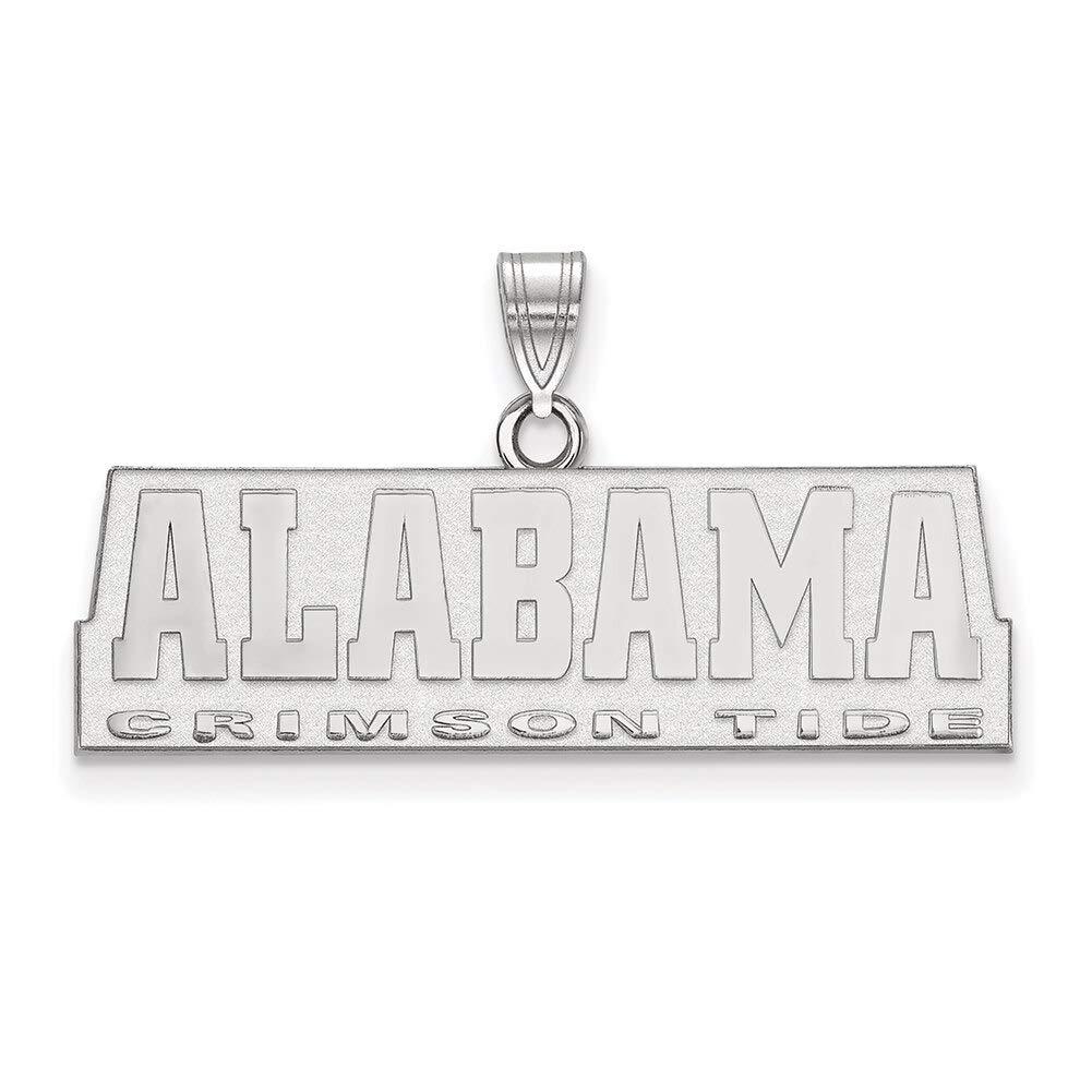 Lex /& Lu LogoArt 10k White Gold University of Alabama Small Pendant LAL129731
