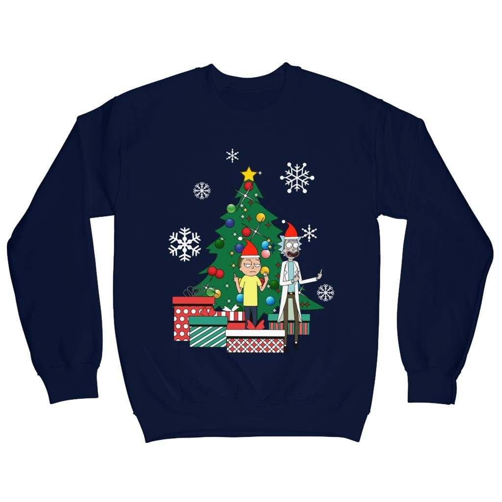 Rick And Morty Around The Christmas Tree Mens Sweatshirt: Amazon.es: Ropa y accesorios