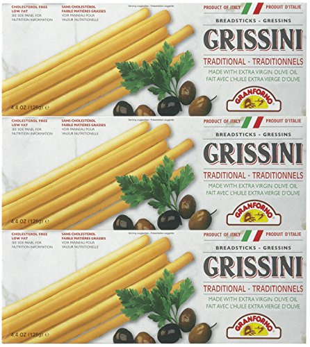Breadsticks Granforno (Granforno Grissini Breadsticks, Plain, 4.4 oz Boxes, 3 pk)