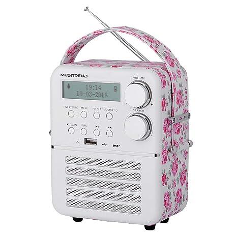 MUSITREND Radio Retro FM/Am, AUX-IN, Altavoz Bluetooth con ...