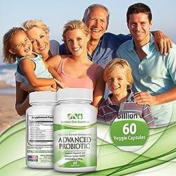 Number One Nutrition Probiotic Supplement, 11.5 Billion CFUs, 60 Vegetable Capsules