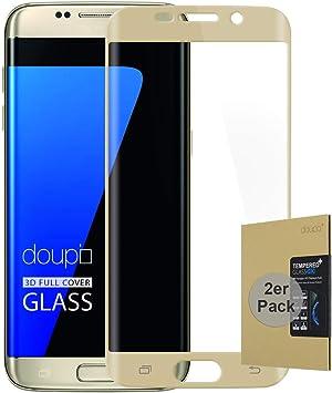 doupi 2X FullCover Protector de Pantalla Compatible con Samsung ...