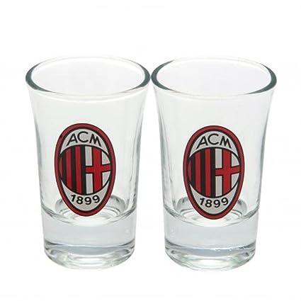 AC Milan FC Oficial de fútbol Regalo Juego de Vasos de ...