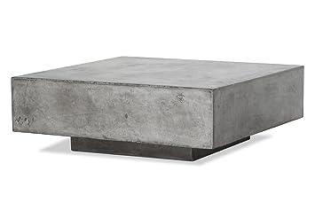 AuBergewohnlich Meubletmoi Couchtisch Quadratisch In Beton U2013 Möbel Wohnzimmer Innen Außen U2013  Style Moderne Zeitgenössische