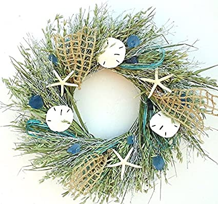 Nautical Christmas Wreath.Nautical Luxuries Sea Catch Beach Wreath