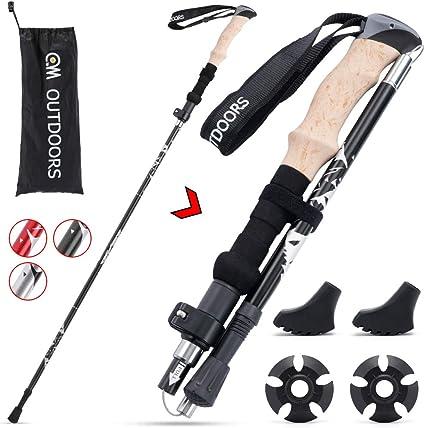 Koviti Trekking Poles Collapsible Hiking Poles 2pc Pack Strong Lightweight ...