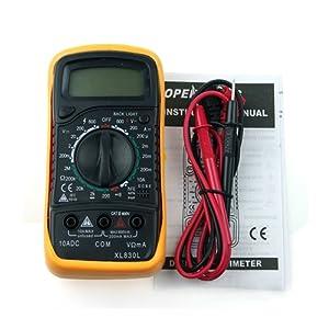 Contever® LCD Numérique Multimètre AC DC Ohm Multimètre Voltmètre Testeur - XL-830