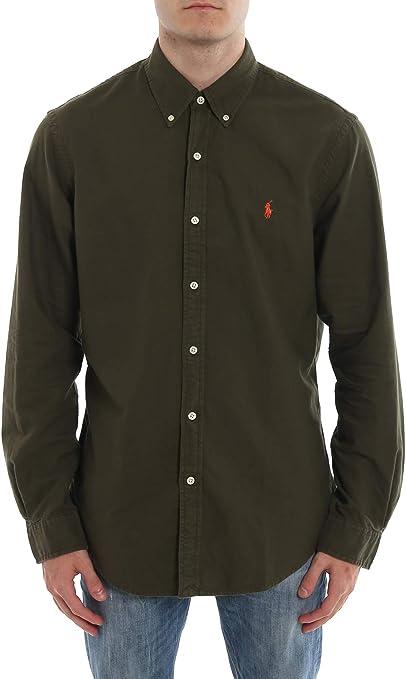 Ralph Lauren Polo Camicia UOMO Company Olive: Amazon.es: Ropa y ...