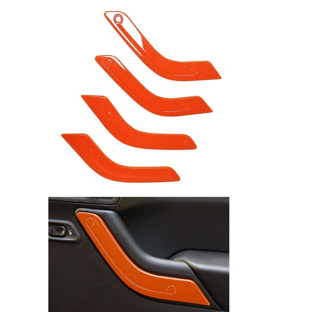 Opall 21PCS Interior Decoration Trim Kit Steering Wheel /& Center Console Air Outlet Trim BLUE Door Handle Cover Inner For Jeep Wrangler JK JKU 2011-2018 2 Door /&4 Door