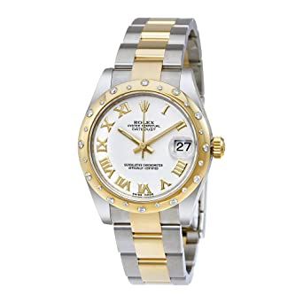 Image Unavailable. Image not available for. Color  Rolex Datejust Lady 31  White Dial Stainless Steel and 18K Yellow Gold Rolex Oyster Automatic Watch 7204a0353