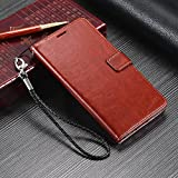 Samsung C9 Pro Flip Cover Leather Case Premium Luxury Revel Touch Leather Cover for Samsung Galaxy C9 Pro Brown