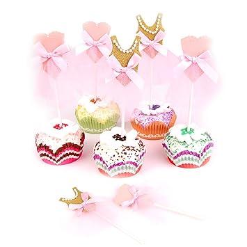 7433c230c Skoye Ballerina Tutus Cupcake Toppers Ballet Princess Skirt Cake toppers  Glitter Decoration for any Childrens Party