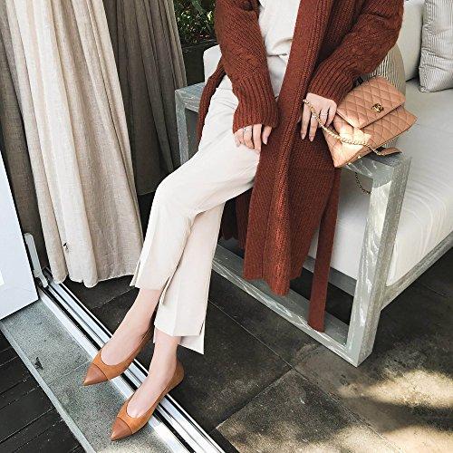 Planos de High la la Zapatos combina la Color Boca Que heels la Baja Planos de Primavera de Moda los 36 UN Zapatos de Punta qxqzawfTr