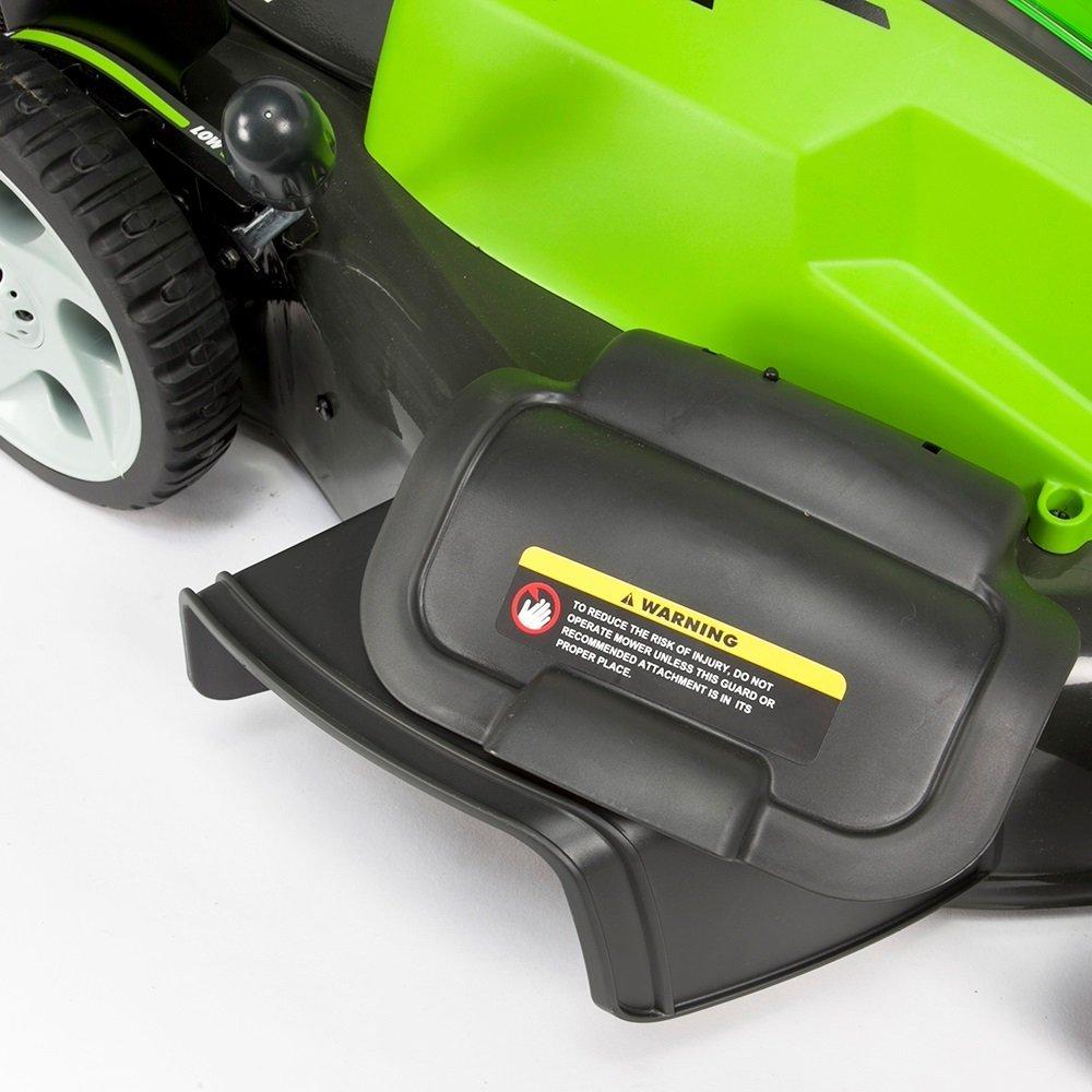 2500107UC Greenworks Tondeuse /à gazon sans fil sur batterie 45cm 40V Lithium-ion avec 2 batteries 2Ah et chargeur