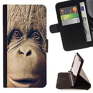 Momo Phone Case / Flip Funda de Cuero Case Cover - Chimpancé del chimpancé del MONO - Samsung Galaxy S5 Mini, SM-G800