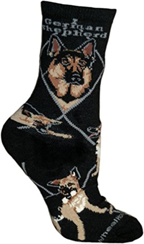 9-11 German Shepherd on Black Socks Wheel House Designs