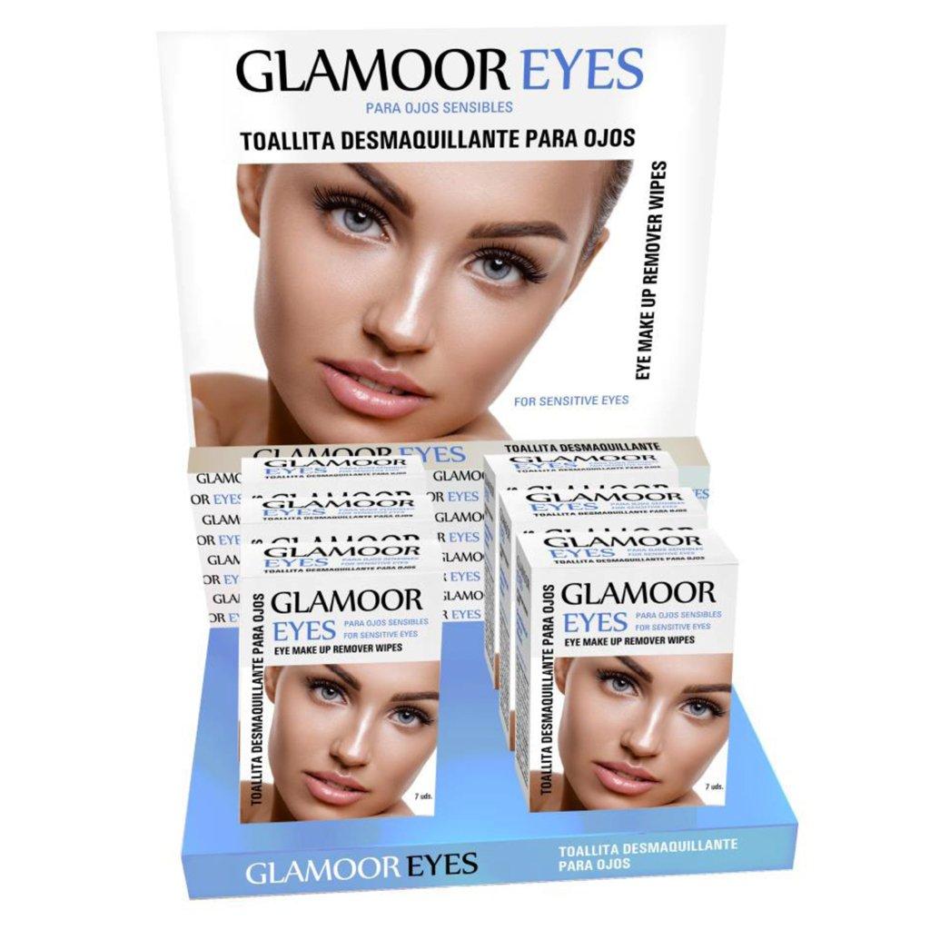 Expositor + 12 cajas x 7 toallitas desmaquillantes para ojos: Amazon.es: Belleza