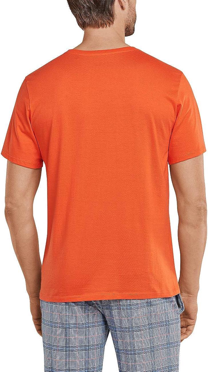 Schiesser Mix /& Relax T-Shirt Knopfleiste Top Pigiama Uomo