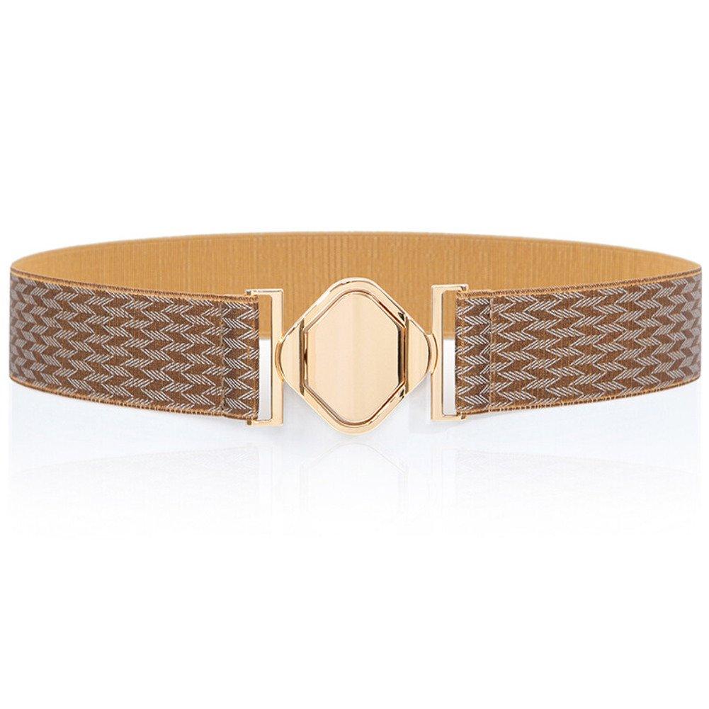 Ladies Retro Belt,Personality Simple Stylish Of Tightness Width Belts Wild Stretch Belt