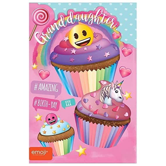 Gemma International 260748 Nieta Cumpleaños Emoji Unicornio ...