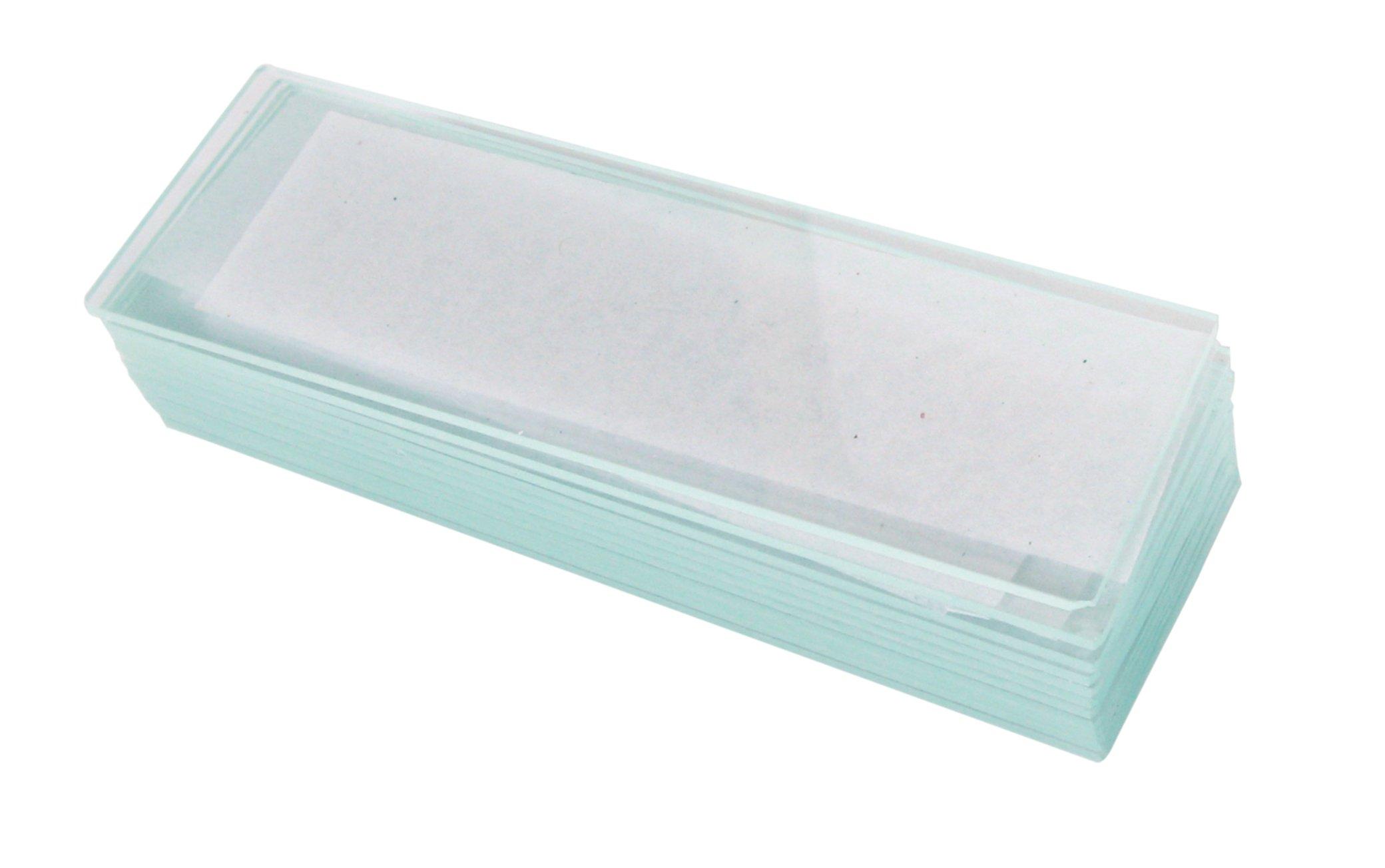 American Educational Glass Single-Cavity Microscope Slide, 76.2mm Length, 25.1mm Width, 1.1-1.2mm Thick (Bundle of 60)