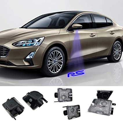 Juego de 2 proyectores retrovisores laterales compatibles con Focus RS Car (MK3.5) 2014-2018year
