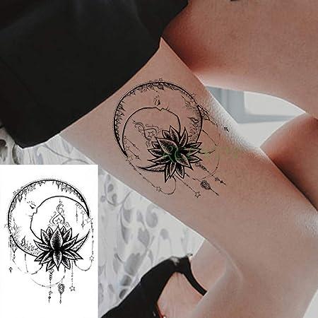 tzxdbh 5pcs a Prueba de Agua Pegatinas Tatuaje de Flores Símbolo ...