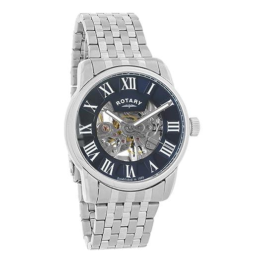 Rotary Reloj Esqueleto para Hombre de Automático con Correa en Acero Inoxidable GB00400/05: Amazon.es: Relojes