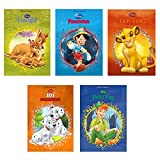 5 Pack Disney Hardcover Book The Lion King Bambi 101 Dalmatians Peter Pan Pinocchio