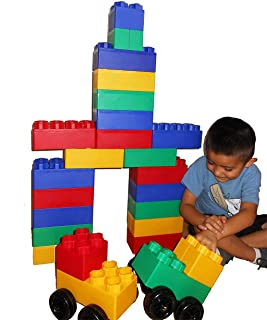 product image for 40pc Jumbo Blocks - Big City Playset with Wheels