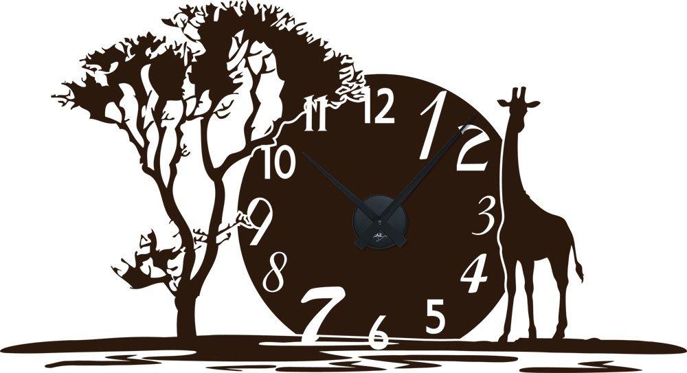 Graz Design 800350 BK 080 Wandtattoo Uhr Mit Uhrwerk Wanduhr Afrika Landschaft Zahlen Gnstig UhrSchwarz AufkleberBraun Amazonde Kche Haushalt