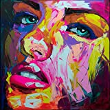 Hand Painted Cool Face Palette knife Heavy texture Abstract Painting art bold art graffiti Street wall art Canvas Artwork