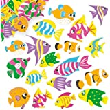 Tropical Fish Foam Stickers Embellishments for Children's Craft Projects Card Making Scrapbooking - by Baker Ross