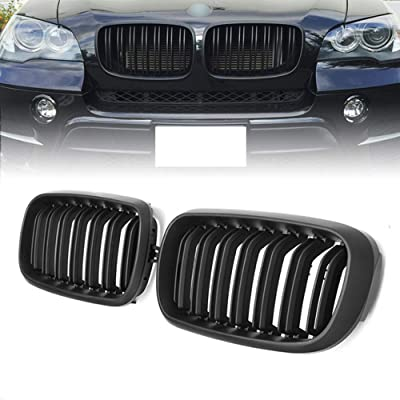 Front Replacement Kidney Grille Grill Compatible with BMW X5 Series F15 X6 Series F16 X5M F85 X6M F86 (Matte Black): Automotive