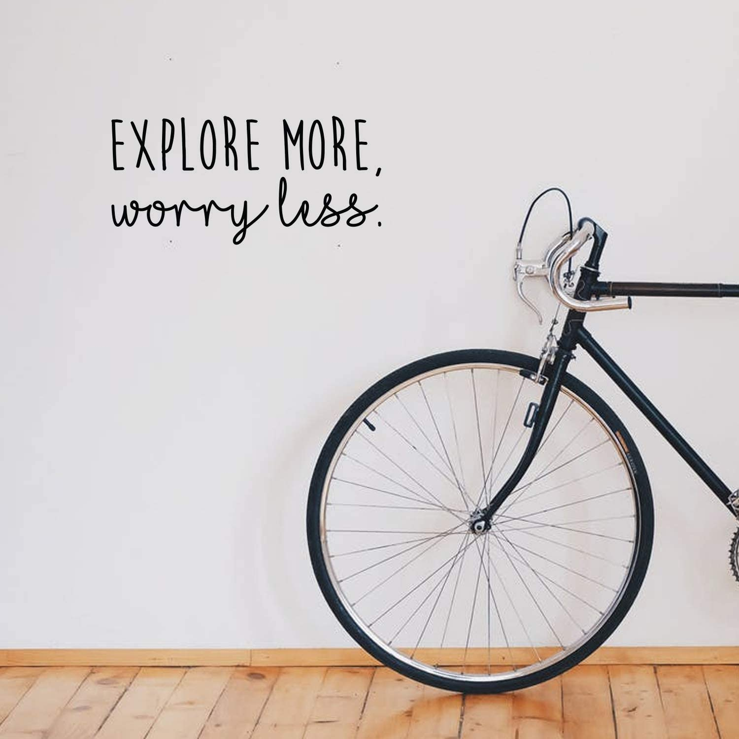 Vinyl Wall Art Decal - Explore More, Worry Less - 10.5