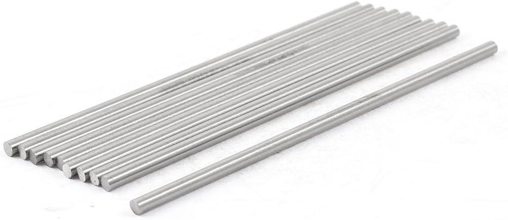 uxcell 10 PCS 3.2mm Diameter 100mm Long Boring Tool Round Turning Lathe Bars