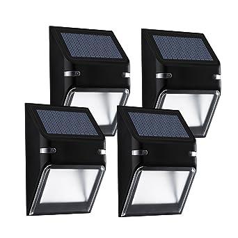 Mpow 4 Pack Solar Lights,5 LEDs Fence Post Solar Lights,Outdoor Lights,