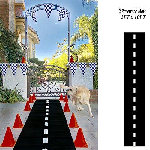 Adorox 2 Pk Racetrack Floor Runner Party Decoration Race Car Theme (Finish Race)