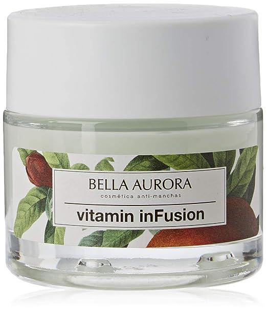 Bella Aurora Vitamin inFusion Tratamiento Reparador Noche Anti-Arrugas anti-Edad para Mujer Crema Facial Redensifica + Regenera + Detoxifica, 50 ml: Amazon.es: Belleza